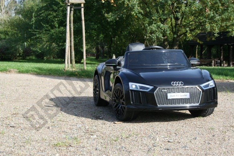 Auto Battery Audi R8 Spyder License Black Electric Vehicles For