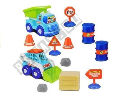 A set of vehicles for unscrewing / twisting