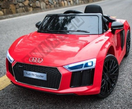 Auto battery Audi R8 Spyder license red lacquered