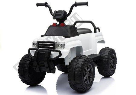 BDM0911 White - Electric Ride On Quad