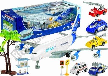 Big Airport Set Airplane 55 cm + Cars + Figures