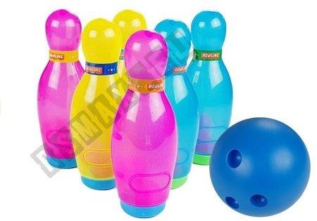 Big Bowling Set 6 pcs Colorful Pins + Bowling Ball