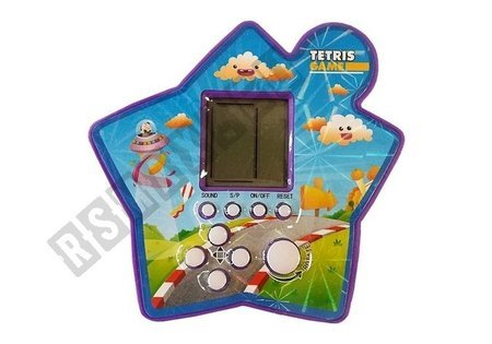 Brick Game Electronic Tetris Portable Star Purple
