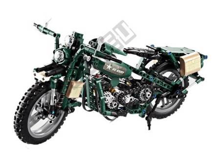 Cada Construction Blocks Military Motorcycle 550 elements