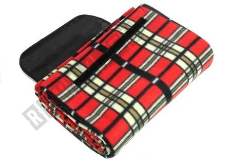 Checkered Picnic Blanket 150x200 Red-Yellow-Blue