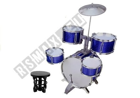 Drums Set with Chair Blue 5 drums