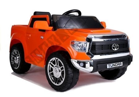 Electric Ride-On Car Toyota Tundra Orange Painted
