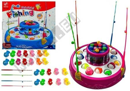 Go! Go! Fishing Game Magnetic Fish 2 Ponds 26 Fish Pink