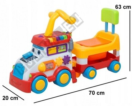 Interactive vehicle locomotive with trailer