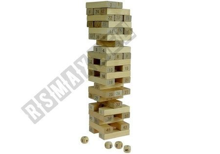 Jenga Game Wooden Tower Don't Destroy!