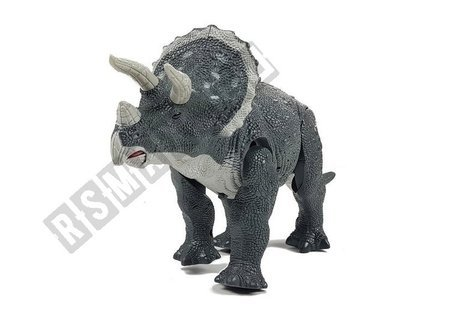 Large Battery Operated Dinosaur Triceratops Gray