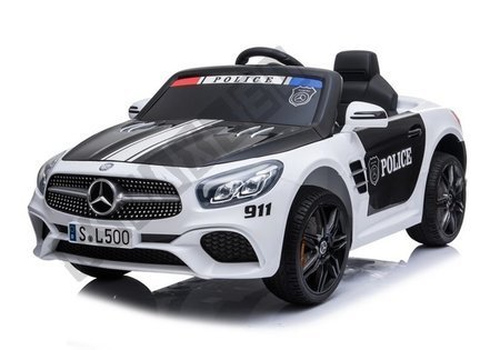 Mercedes SL500 Electric Ride On Car Police White
