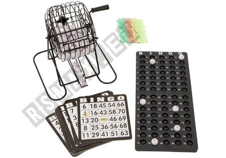 Metal Bingo Game Set Reusable Cards Lottery Machine