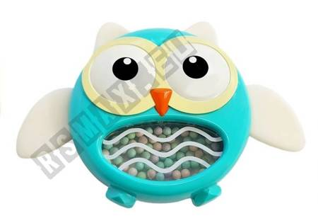 Owl Rattle Teether Children's Toy Blue