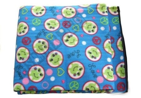Picnic Blanket 150x180 Blue Cute Animals Pattern Frogs