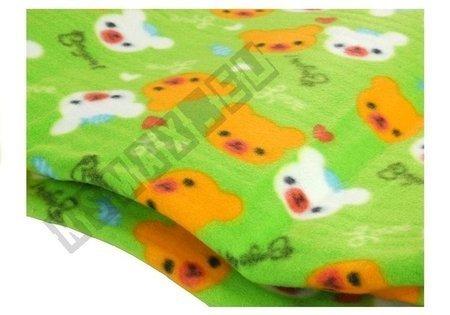 Picnic Blanket 150x180 Cute Animals Pattern Green