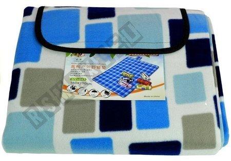 Picnic Blanket 150x250 Blue-White Square Pattern