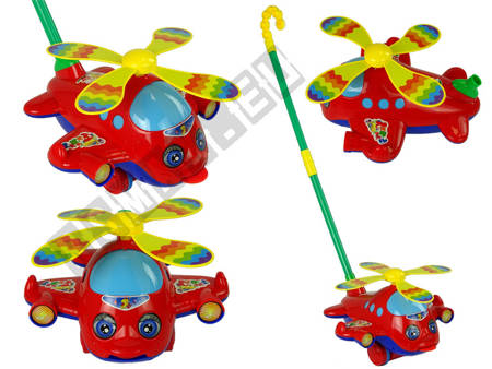 Plane Push Toy Noisemaking Moves Tongue and Propeller