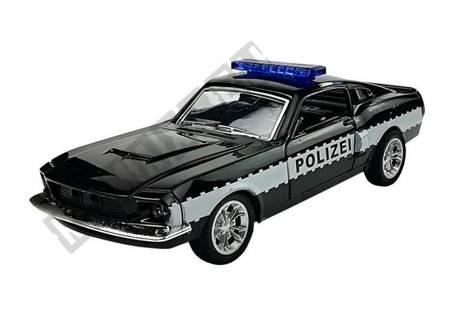 Police Service Car 1:32 Black