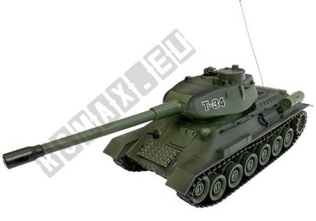 R/C Tank 1:28 with Enemy Bunker Green T-34