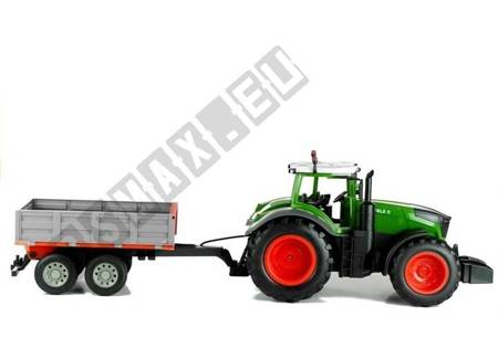 Radio-controlled tractor with tipper