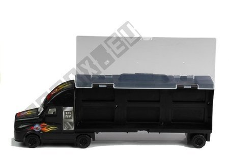 Sorter Truck with Die-cast Cars Accessories Black
