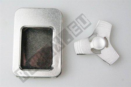 The original super FIDGET SPINNER aluminium silver