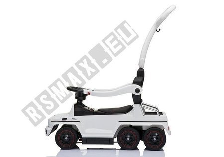 Toddlers Ride On Push Along with Parent Handle Mercedes 6x6 SX1838 White