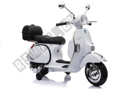 Vespa Scooter Electric Ride On Motorcycle - White
