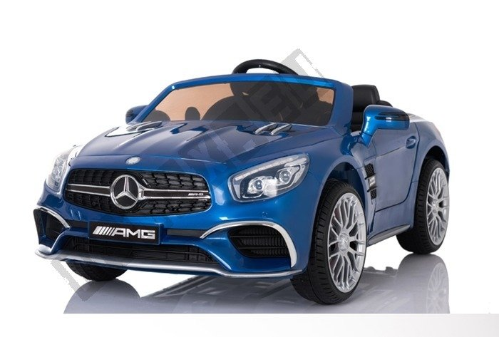 kinderauto mercedes benz sl65 amg coupe elektroauto kinderfahrzeug ledersitz blau lackiert. Black Bedroom Furniture Sets. Home Design Ideas