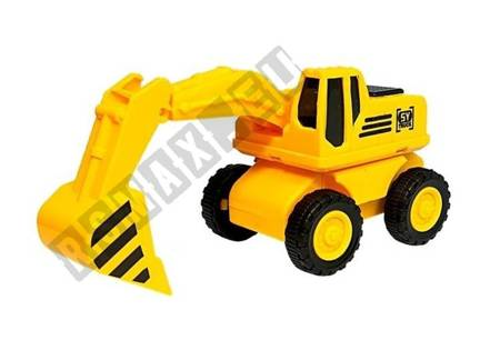 Baufahrzeug Set 4 Stück Reibantrieb