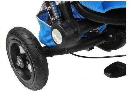 Dreirad PRO700 Blau Klingel 3-Punkt-Sicherheitsgurte Gummiräder Dreirad