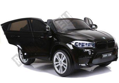 Elektroauto BMW X6 Schwarz lackiert Kinerfahrzeug Ledersitz EVA-Reifen Auto