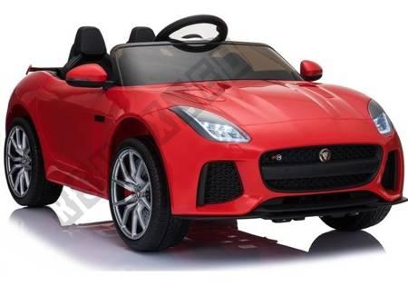 Elektroauto Jaguar F-Type Rot lackiert EVA-Reifen Ledersitz Kinderfahrzeug Auto