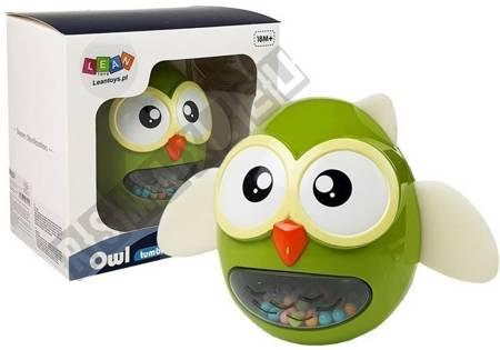 Eulenrassel Beißring Kinderspielzeug Grün
