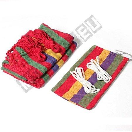 Hängematte für 2 Personen 160x195 Baumwolle bis 150km Tasche