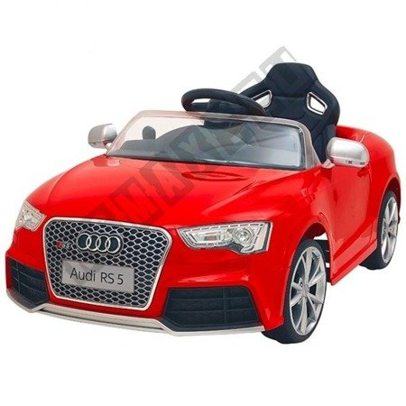 Kinderauto AUDI RS5 Lizenz Elektroauto Ledersitz rot