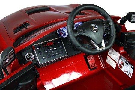Kinderauto MERCEDES SLS AMG lackiert Elektroauto Kinderfahrzeug Ledersitz rotwine lackiert