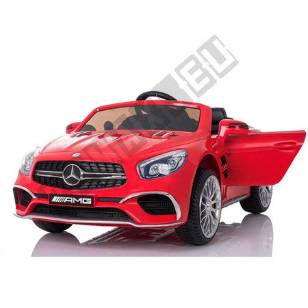 Kinderauto Mercedes-Benz SL65 AMG Coupe Elektroauto Kinderfahrzeug Ledersitz rot