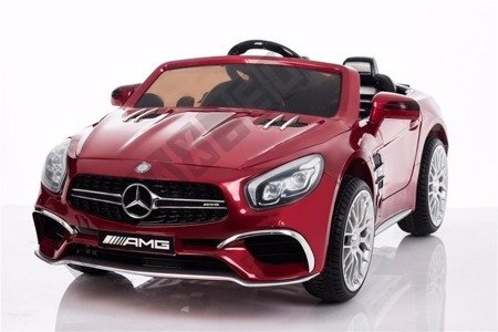 Kinderauto Mercedes-Benz SL65 AMG Coupe Elektroauto Kinderfahrzeug Ledersitz rotwine lackiert