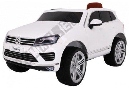 Kinderauto VW Touareg Elektroauto Kinderfahrzeug Ledersitz weiß
