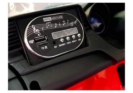 Kinderfahrzeug BBH-718A Rot EVA-Reifen Ledersitz LED Frontscheinwerfer Auto