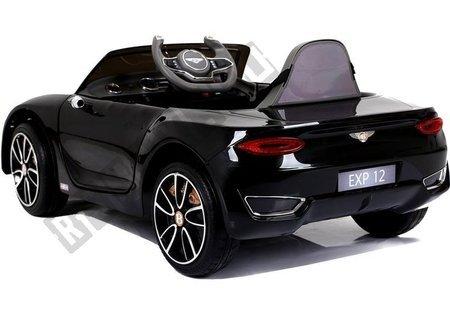 Kinderfahrzeug Bentley Schwarz lackiert EVA-Reifen Ledersitz 2x45W Auto