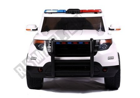 Kinderfahrzeug CH9935 Polizeiauto Weiß Ledersitz EVA-Reifen Auto