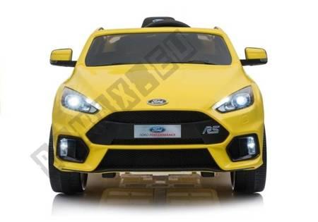 Kinderfahrzeug Ford Focus RS Gelb 2x45W 2,4G 5-Punkt-Sicherheitsgurte Fahrzeug