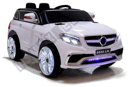 Kinderfahrzeug HJ6666 Weiß Ledersitz EVA-Reifen 2.4G USB SD MP3 LED Auto