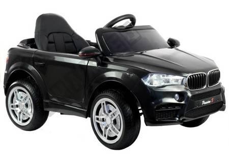 Kinderfahrzeug HL1538 Schwarz Ledersitz EVA-Reifen Multifunktionslenkrad Auto