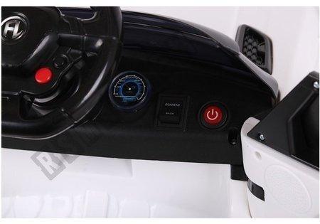 Kinderfahrzeug HL1638 Weiß Ledersitz weiche EVA-Reifen Kinderfahrzeug