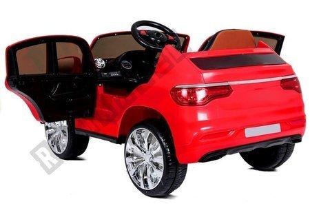 Kinderfahrzeug LL858 Rot 2x45W EVA-Reifen Ledersitz USB SD MP3 LED Fahrzeug