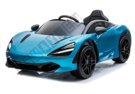 Kinderfahrzeug McLaren 720S Blau lackiert EVA-Reifen Ledersitz 2x45W Auto